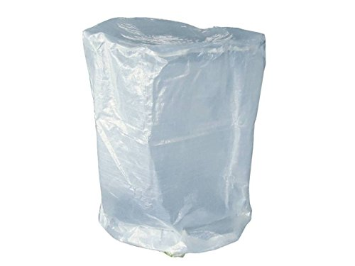 Hillfield Grillabdeckung rund oder eckig Abdeckhaube runde oder eckige Grills/Bistrotische (Weiß, 70 x 90 cm RUND)