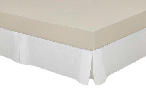 Cassa Luyton Couvre sommier à Soufflets en Toile en Coton-Polyester Blanc 90 x 200 cm