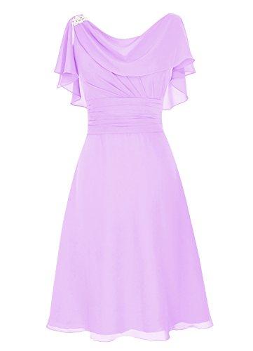 Dresstells Damen Abendkleider Homecoming Kleider Abiballkleider Lavender Größe 40