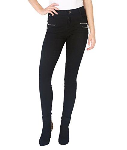 KRISP -  Pantaloni  - Pantaloni  - Basic - Donna Schwarz (5511)