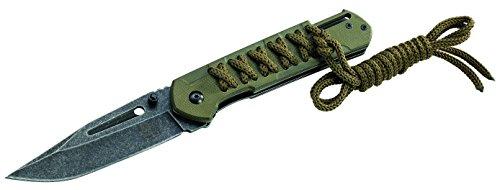Puma TEC Erwachsene Messer Einhandmesser G10-Schale mit Kordel Länge geöffnet: 21.5cm, grau, One size -