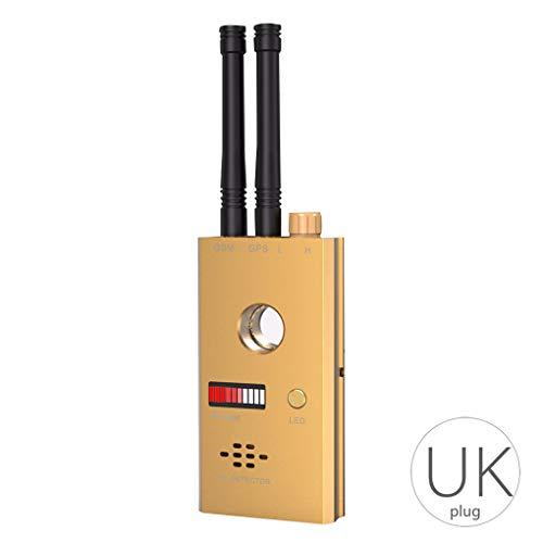 Ruiboury Funk-Signal-Detektor, GSM, GPS, Dual-Antenne, Sprachalarm & IR-Scan-Kamera, blinkend