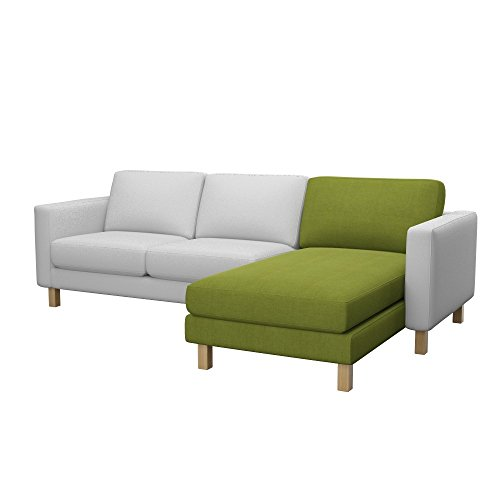 Soferia - Bezug fur Ikea KARLSTAD Anbau Recamiere, Elegance Green