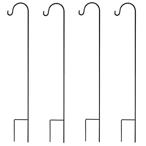 GrayBunny gb-6822Shepherd Haken, 88,9cm, 4er Pack, Premium Stahl (kein Kunststoff) 3/25,4cm Durchmesser rostbeständig Haken, schwarz, GB-6822