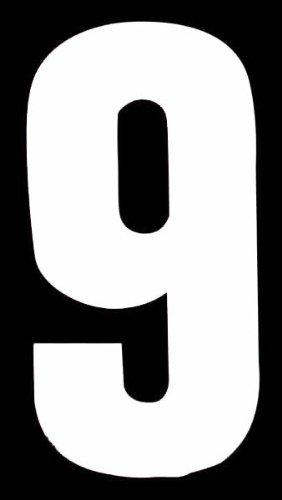 Multi Purpose numéro '9'auto-adhésif Blanc