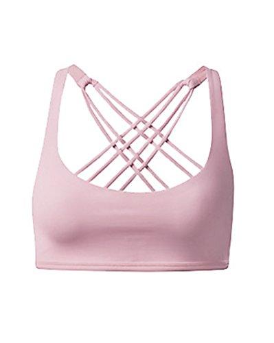 Soutien-Gorge Sport Push Up Bra Lingerie Vest Avec Brassière Yoga pink