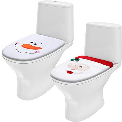 2 pezzi coperchio per wc a tema natalizio coprisedile per wc di santa decorazioni per bagno di natale felice per forniture per festival