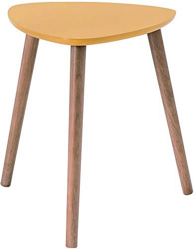 habeig Kaffeetisch Couchtisch Wohnzimmertisch Beistelltisch 40x40x45cm Holz (Gelb #91)