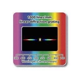 Confezione da 10 Slide Reticolo di Diffrazione – Lineare 1000 Linee/mm