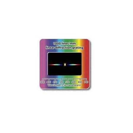 10 Durchlicht-Beugungsgitter im Diarahmen. Transparente Folie mit 1.000 Linien pro mm