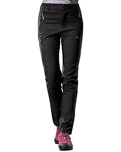 Tomwell Unisex Pantaloni Trekking Softshell Traspirante Impermeabili  Pantaloni Montagna Outdoor Pantaloni da Arrampicata per Donne Uomo e4238fed6df