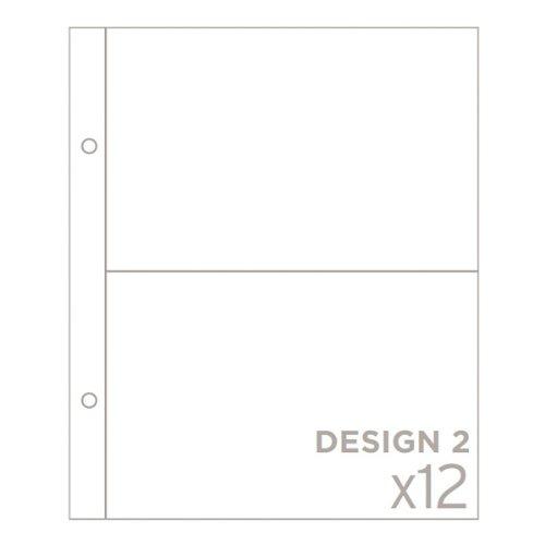Project Life - 6 x 8 Foto Pocket Seiten - Design 2 - Fototasche Seiten