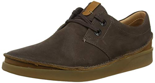 Clarks Herren Oakland Lace Derbys, Braun (Dark Brown Leather), 39.5 EU -