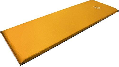 normani Camping Thermo Matte selbstaufblasend - Gute Isolierung und Polsterung Farbe Orange Größe 200 x 70 x 11 cm
