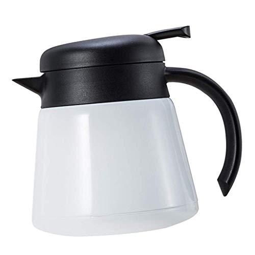 Betrothales 800Ml Kaffeekanne Isolierkanne Teekanne Thermoskanne Casual Chic Aus Edelstahl Für Oder Kaltes Wasser Saft Kaffee Tee Milch Schwarz (Color : Weiß, Size : Size)