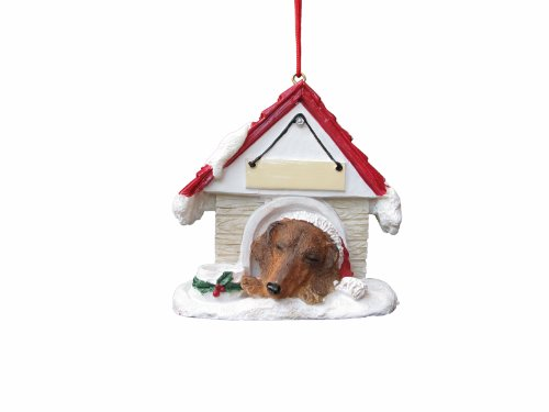 Dachshund Red Dog House Ornament by E&S Pets (Dog House Ornament)