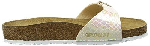 Birkenstock - Madrid Birko-flor, Pantofole Donna Beige (beige (crème De Serpent Brillant))