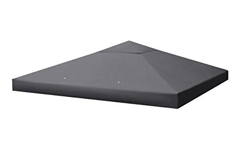Sekey Ersatzdach für Metall Pavillon/Faltpavillon/Festival-Zelt/Gartenmöbel/Gartenpavillon,Wasserdichte Beschichtung, mit Entlüfter,3 x 3 m (Grau)