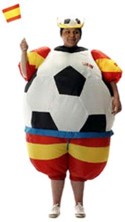 Unbekannt Sparmeile 25704 - Aufblasbares Kostüm Spanien - Fußball Aufblasbare Kostüm