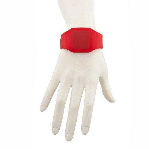 LUX Zubehör Rot Gummi, viereckig, Face Digitale Armbanduhr (Pin Großhandel Roten Kleid)