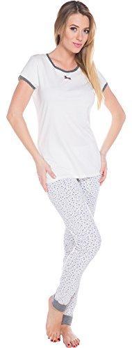 Italian Fashion IF Pyjama Femme Zelda 0230 Ecru
