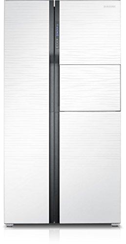 Samsung RS554NRUA1J Side-by-Side Refrigerator (591 Ltrs, Shinny River Pattern)