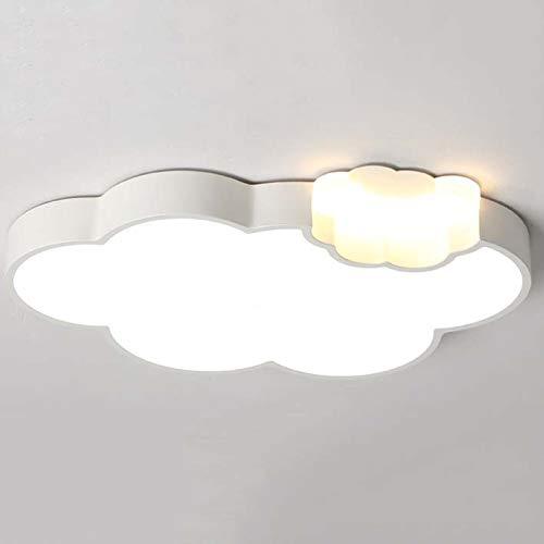 Qckdq soffitto lampade a led, paralume acrilico contemporanea, forma moderno nube dimmerabile luce di soffitto, camerette per ragazzi di light lighting,b,whitelight