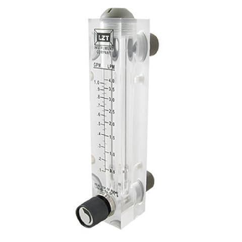 Noir réglable Bouton 0.1–1GPM Type de panneau eau Débitmètre LZM-15