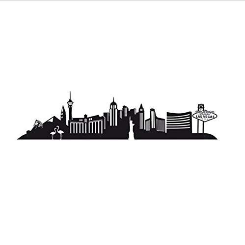 xmydeshoop Große Größe Las Vegas City Wandaufkleber Livimg Zimmer Aufkleber Aushöhlen wasserdichte Kunst Wohnkultur 59X244 cm