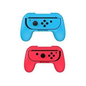 Zubehör-Set für Nintendo Switch Games Starter, 2 x Lenkrad, 2 x Griffset, 1 x Reise-Tragetasche (5-in-1 rot/blau)
