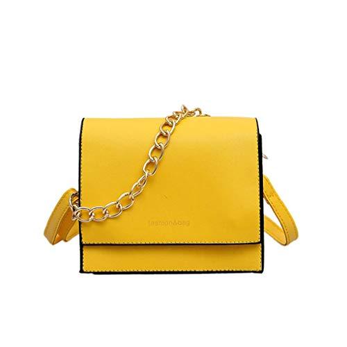 Bolso Bandolera amarillo para mujer