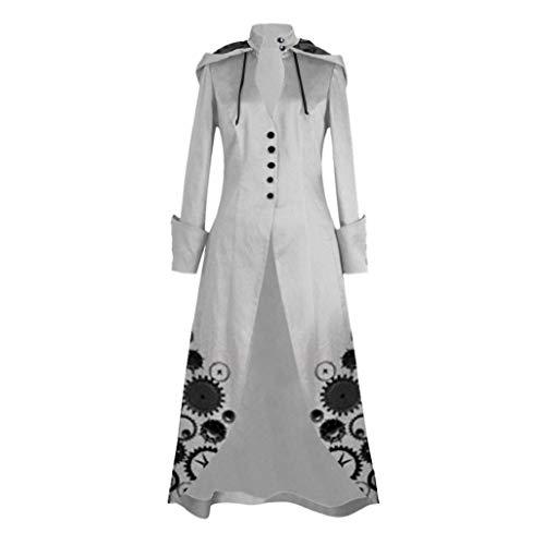 Mujer Gótico Steampunk Corsets y Bustiers Abrigo Luckycat (Gris,...