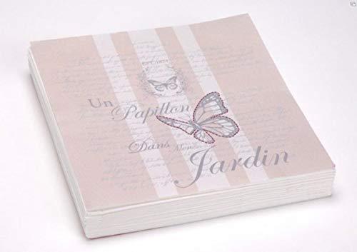 Amadeus Paquet de 20 Serviettes en Papier Flower