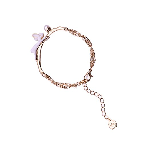FENICAL Adjustable Cartoon Rabbit Bracelet Bangle Statement Jewelry Fashion Gifts