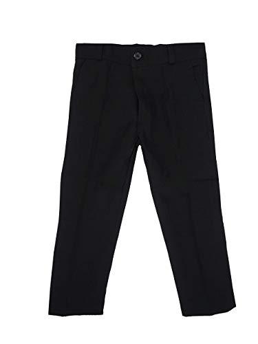 Black & White Single: Jungen Hose. Schwarze Anzughose (Größe 92 bis 164), Schwarz, 6 Jahre / Größe 122