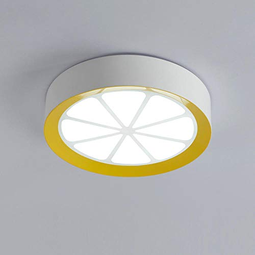 Deckenleuchten Deckenlampe Deckenbeleuchtung Deckenspot Wohnzimmerlampe Nette Zitrone Form Round Dia 40Cm Acryl Led Deckenleuchte Mit Fernbedienung Für Schlafzimmer Esszimmer Kinder Licht Dimmbar -