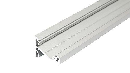 LED Aluminium Profil Leiste Schiene CORNER-T-14-2000, 2m, eloxiert RL#018975