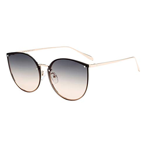 qiansu Trendy Mode Sonnenbrillen Frauen Metallrahmen Brille Vintage Sunglass Korean Pink Brillen C2
