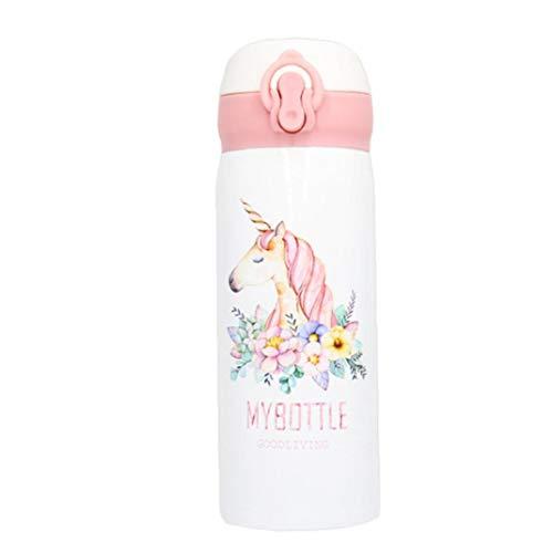 500ML Mini Unicornio del Viaje del Café Tazas De Té Copa Frasco De Vacío Térmico con Las Botellas Que Despide Cubierta Niños Thermo