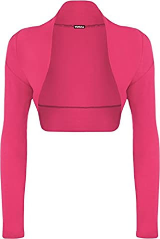 WearAll - Damen bolero strecken Top - Cerise - 36-38