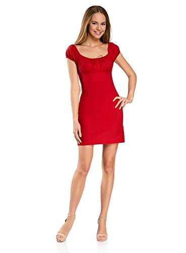 umwoll-Kleid mit Raffungen auf der Brust, Rot, DE 36 / EU 38 / S ()