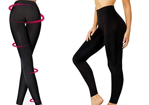 Leggings, Slimming,Seamless Control, Shapewear Legs, Reduce Cellulite, Black S M L XL 2XL 3XL 8 to 30, Black, XXL