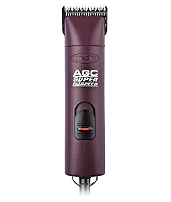 Andis ProClip Super 2-Speed Detachable Blade Clipper, Professional Animal/Dog Grooming, Burgundy, AGC2 (22360) by Andis