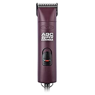 Andis ProClip Super 2-Speed Detachable Blade Clipper, Professional Animal/Dog Grooming, Burgundy, AGC2 (22360)