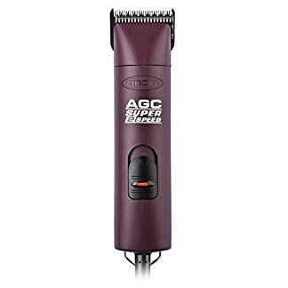 Andis ProClip Super 2-Speed Detachable Blade Clipper, Professional Animal/Dog Grooming, Burgundy, AGC2 (22360) 319 2BWajLnCL
