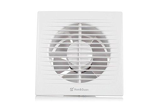 Ventilateur d'extraction, Hon&Guan 150mm Ventilateur Silencieux Extracteur d'air pour Salle de Bain / Chambre / Bureau (C-150mm)