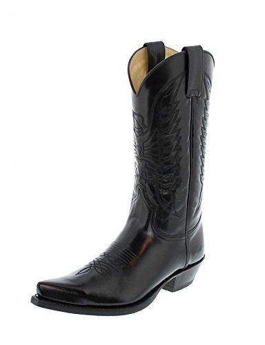 Sendra Boots 2073 Florentic Negro Westernstiefel für Damen und Herren Schwarz, Groesse:44