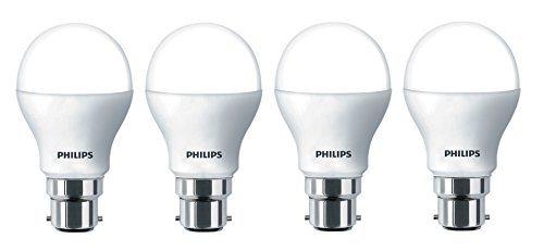 Philips Base B22 9-Watt LED Bulb (Pack of 4, Cool Day Light)