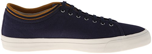 Fred Perry Kendrick Tipped Cuff Canvas B5210 Uomo Trainers Grey Navy