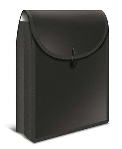 Herma 19179 Flexible Heftbox FlexiBag für DIN A4 Schulhefte und Schnellhefter im Schulranzen u. Schulrucksack, Kunststoff, Schwarz, 1 Stück